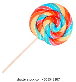 New Design High Quality Lolly Pop design printed on a solid background Blue