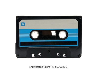7101af71fc6f33 Vintage compact audio tapes for magnetic recording on an isolated white  background.Compact cassette