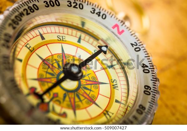 Vintage Compass close up