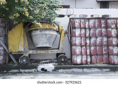 vintage concrete mixer truck