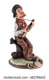Vintage country folk singer cowboy playing guitar