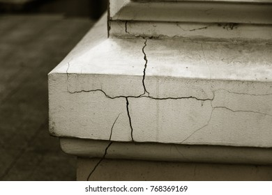 Vintage Cracks background. Background surface with creative cracks. Web cracks as background for creative design for layout. stone surface of cement layer with network is texture of deep cracks