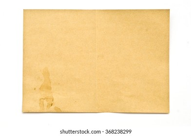 Vintage crumpled paper texture with spot