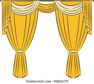 The vintage curtain