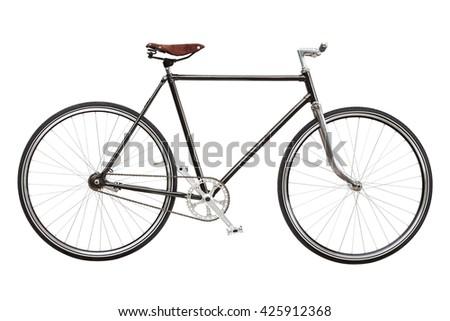 c167c333cf6 Vintage Custom Single Speed Bicycle Isolated Stock Photo (Edit Now ...
