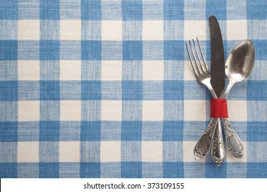 Vintage cutlery on a table
