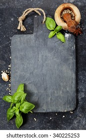 vintage cutting board and fresh ingredients - Cooking, Healthy Eating or Vegetarian concept