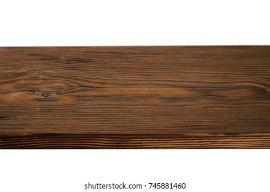 vintage cutting board with space for text on white wooden background, close-up isolated on white