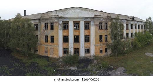 Vintage Damaged Abandoned Building Requiring Repair