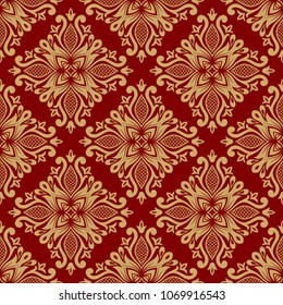 Vintage damask seamless pattern. Classical luxury texture for wallpapers, wrapping, textile. Illustration