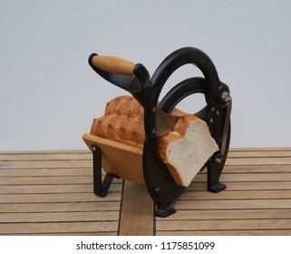 Vintage danish bread slicer with a danish white bread