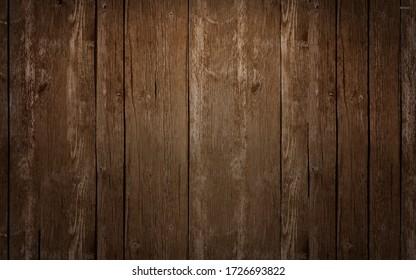 vintage dark teak wooden texture background. topview
