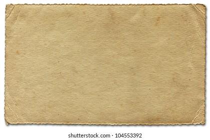 Great Vintage Deckle Edged Paper