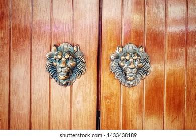 Vintage Decorative metal door home.
