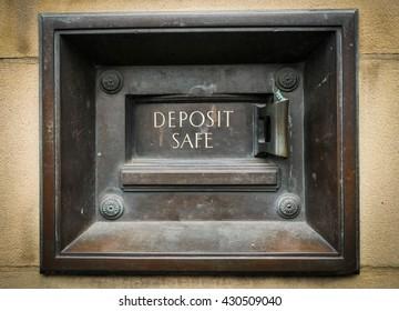 Vintage deposit safe