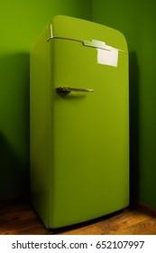 Vintage design green fridge