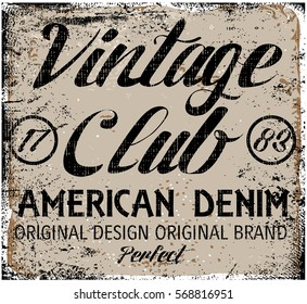 Vintage design. Stamp typography, t-shirt graphics, poster, banner, print, flyer, postcard
