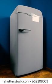 Vintage design white-gray fridge