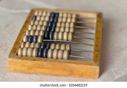 A vintage device for adding and subtracting digits.