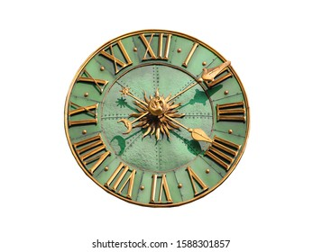 vintage dial isolated on white background