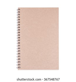 Vintage diary book on white background, for writing,reading and education concept