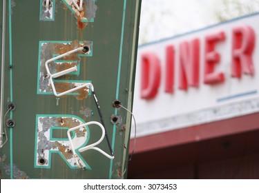 Vintage diner sign