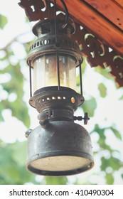 vintage dirty oil lamp