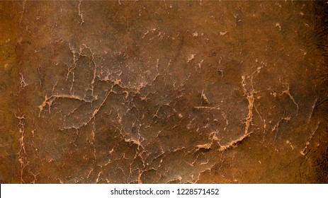 Vintage distressed brown leather texture background