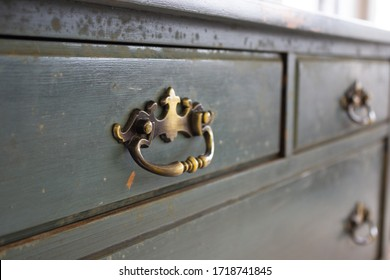 Vintage distressed dresser drawers with brass handle