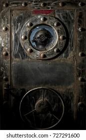 Vintage diver and submarine door