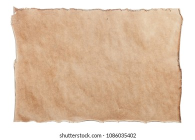 Vintage document isolated on white