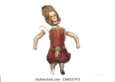 Vintage Doll on White Background
