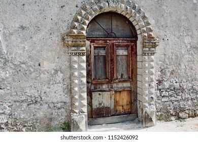 A vintage door in a desert village