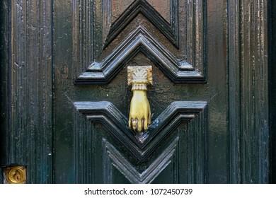 Vintage door of a house