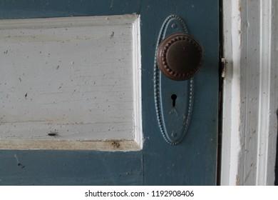 Vintage door knob, rustic, country, farm, Victoria
