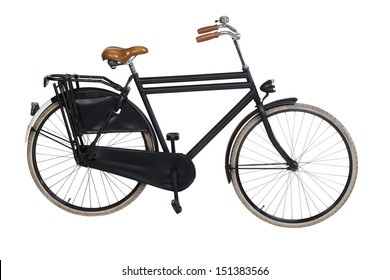 Vintage dutch bicycle isolated on white. Including clipping path
