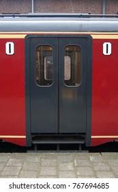 Vintage Dutch Railway train doors