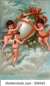 Vintage Easter Greeting Illustration, circa 1910