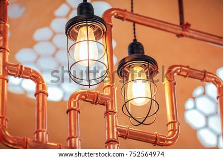 Vintage edison light lamps