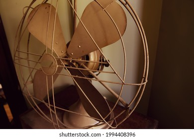 Vintage electric fan in old house