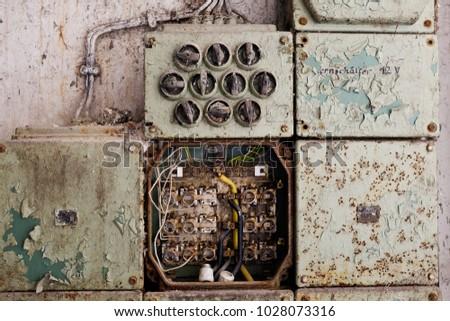 vintage electric panel fuse box stock photo edit now 1028073316 rh shutterstock com