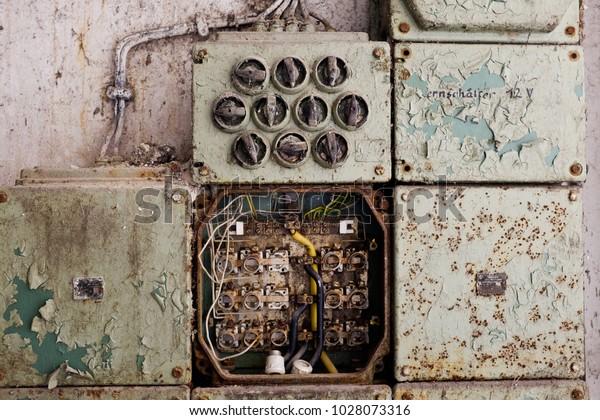 Vintage Electric Panel Fuse Box Stock Photo (Edit Now ... on vintage transmission, vintage spark plug box, vintage cable box, vintage blasting cap box, vintage battery box, vintage hbo box, vintage breaker box, vintage fan box, ge electric panel box,