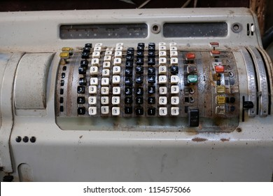 Vintage Electromechanical Calculator Mechanical calculator or calculating machine Is a mechanical tool used for carrying out basic arithmetic operations.
