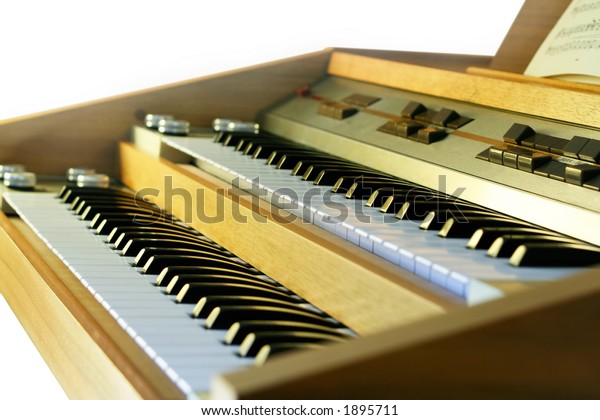 Vintage electronic organ from 70s