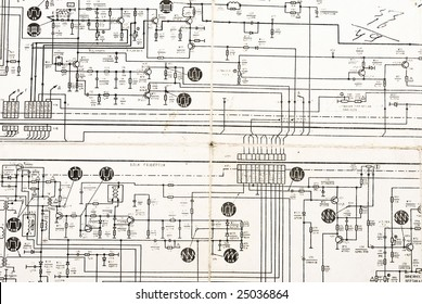 vintage electronic schematic diagram