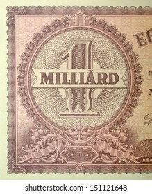 Vintage elements of paper banknotes, Hungary