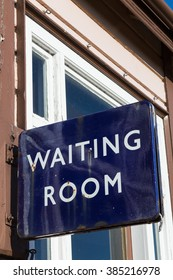 Vintage english railway waiting room sign