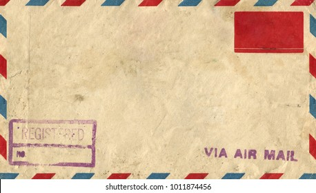 Vintage Envelope with Ink Stamp, USA, New York