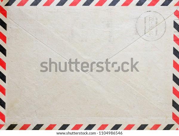 Vintage envelope with postal stamp