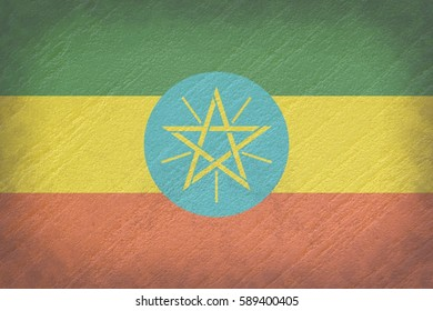 Vintage Ethiopia flag background